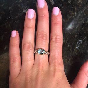 David Yurman aquamarine ring - Authentic